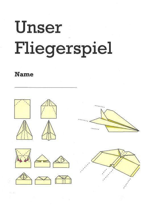 papierflieger falten pdf